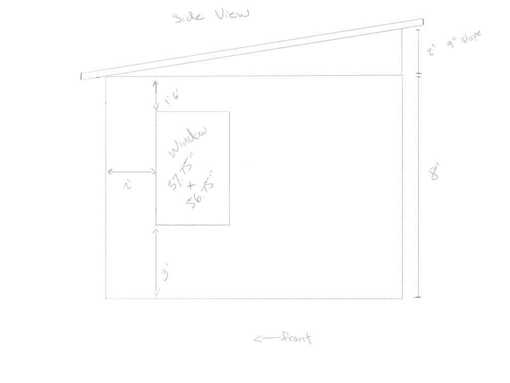Side View of Shed Plans